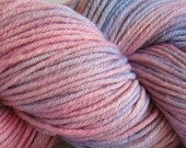 March Hare hand dyed worsted weight yarn, 4ply superwash merino, 100g 220yds - Naptime 1