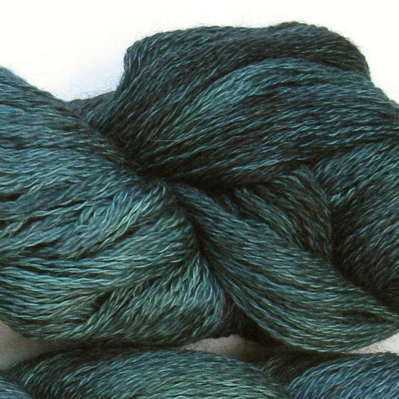 Lace weight yarn kid mohair merino 2ply, 100g, 900yds: Dabbling Teal 1