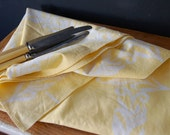 Reserved.  yellow frond table cloth