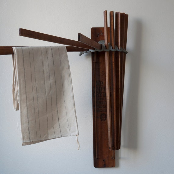 Antique Wooden Drying Rack By Cottagefarm On Etsy