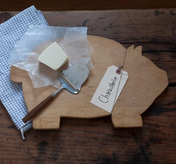 vintage pig charcuterie board