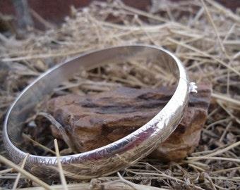 Etched Silver  Bracelet / 171