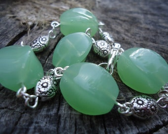 Green Bead Bracelet - Kayla 126