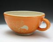 A Big Mug with Flower Motif