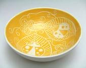 Yellow Ladybug Bowl