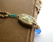 Bea. Vintage Quilt Necklace.