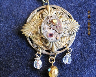 Re-Broach Vintage Watch Necklace --Just Reduced