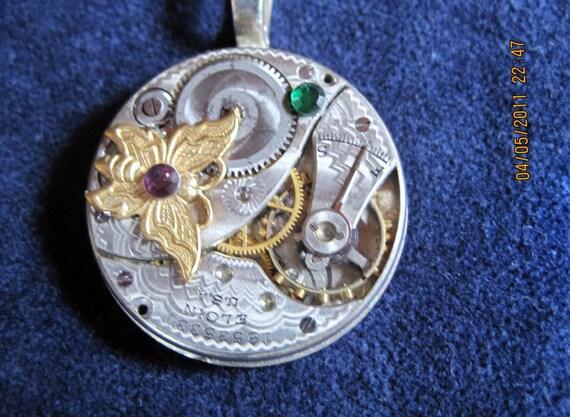 Vintage Pocket Watch Movement Pendant