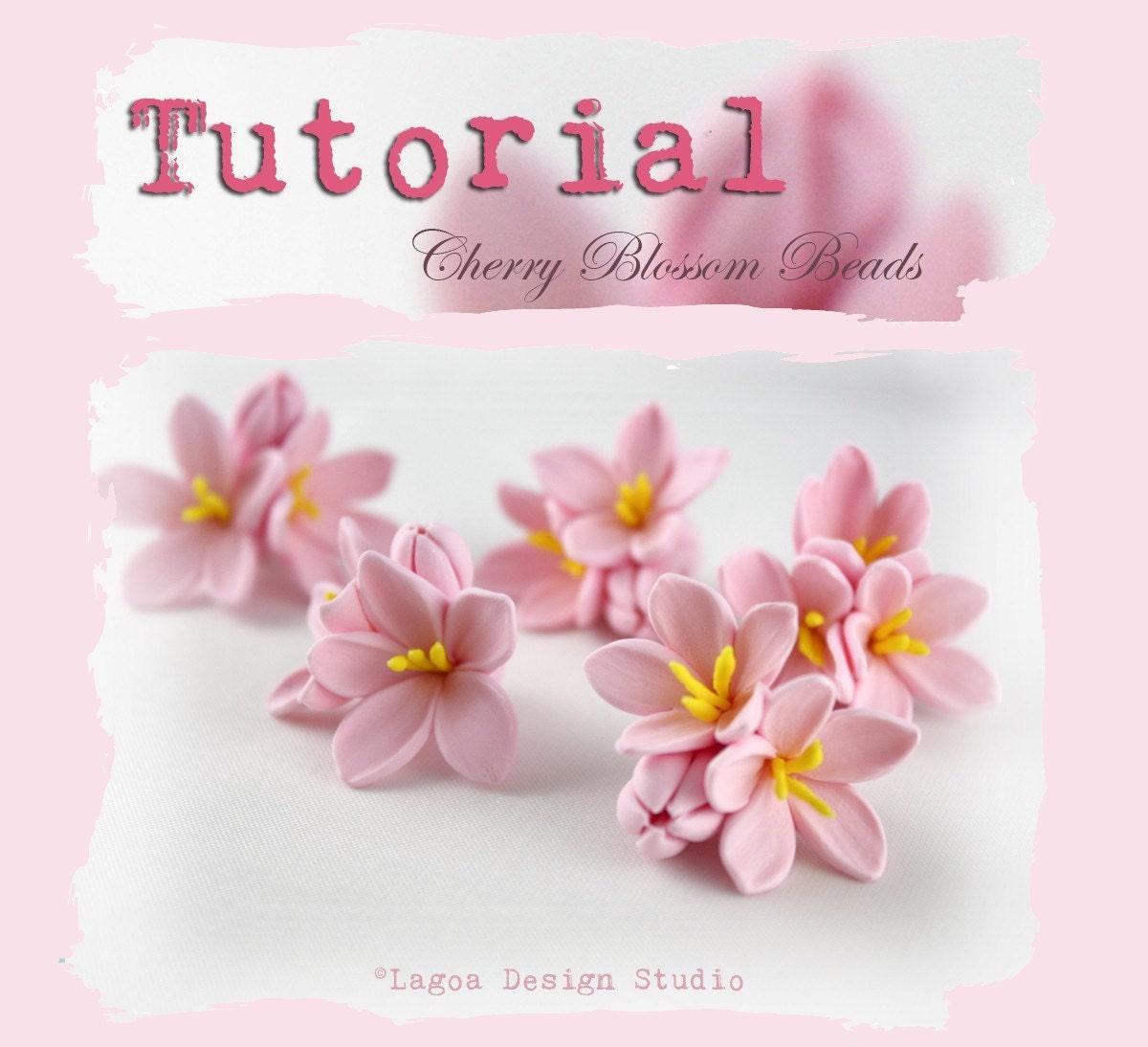 Clay Flowers Tutorials: TUTORIAL // Hand Sculpted Polymer Clay Sakura Cherry Blossom