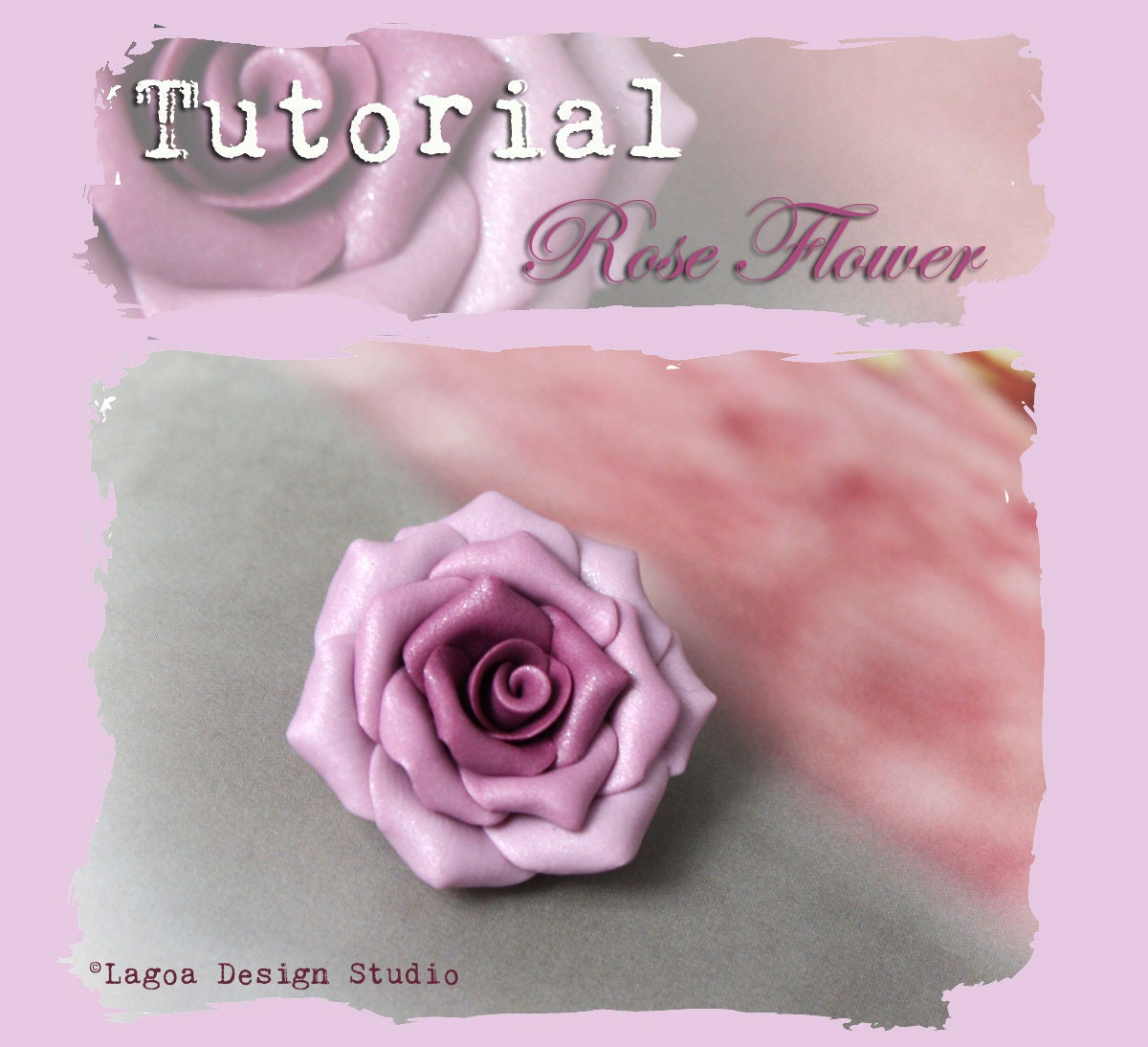Clay Flowers Tutorials: TUTORIAL // Hand Sculpted Polymer Clay Graduated Color Rose