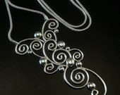 Sterling silver Large swirl Pendant-FREE SHIPPING (standard shipping)
