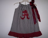 Boutique Alabama Crimson Tide Houndstooth dress sizes Newborn- girls 7