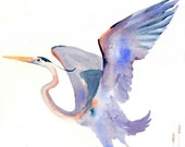 Note Card Great Blue Heron II 5 Cards and Envelopes Gift Set