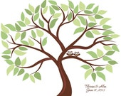 Personalized Wedding Tree Guest Book Print for up to 75 guests