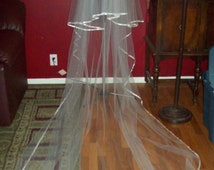 Ribbon Edged Cathedral Wedding Veil