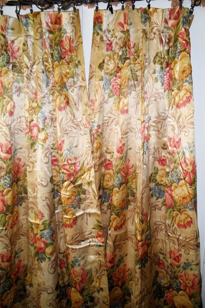 Reserved For Roxphotog Antique 1930s Vintage Curtains Textured