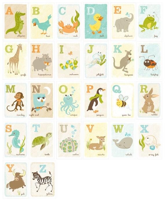 "4x6"" Complete Alphabet - alphabet prints"