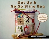 Easy Zipped Sling Bag INSTANT DOWNLOAD - PDF Sewing Pattern And Tutorial