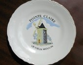 Vintage porcelain plate Old Mill in Pointe Claire Quebec