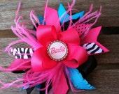 Large Barbie boutique hair bow