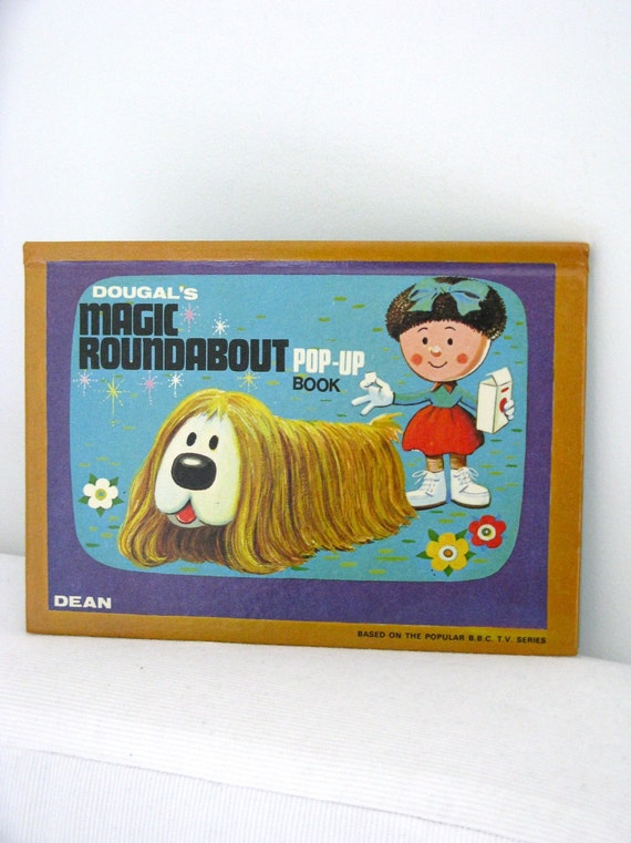 French Children's book Vintage 70's - Magic Roundabout pop-up