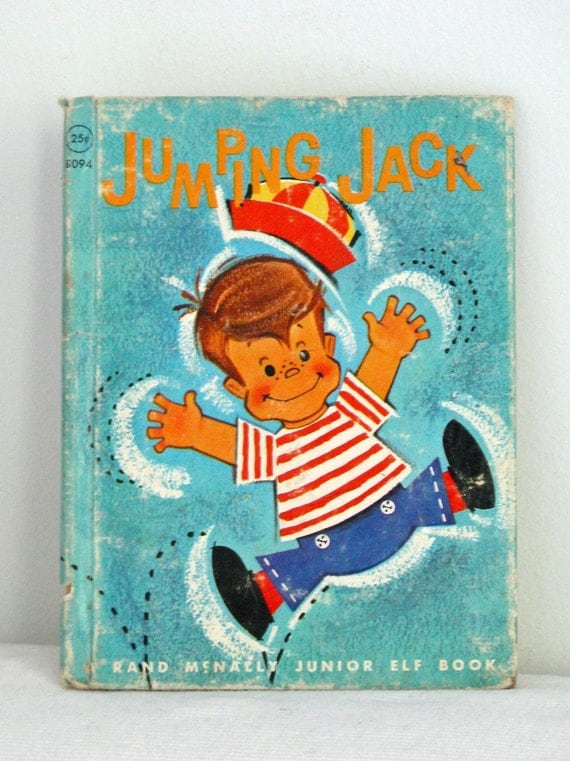 RESERVED - 60's Vintage children book - Jumping Jack
