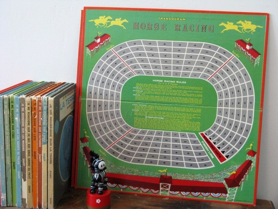 50s Horse Racing Game board Vintage