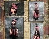 "Kaye Wiggs 18"" BJD and Helen Kish 16"" Doll Clothes Pattern PDF File  Moulin Rouge  et"