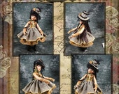 "Kaye Wiggs 18"" BJD and Helen Kish 16"" Doll Clothes Pattern INSTANT Download  Raven Princess  ET"