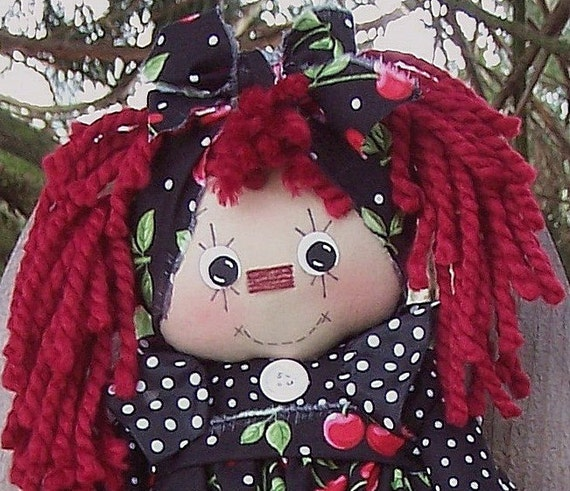 Annabell Raggedy Anne, Raggedy Ann Doll INSTANT DOWNLOAD Pattern  260  ET