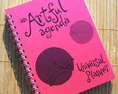 fuscia Universal Planner by An Artful Agenda--Art-filled planner with hand-drawn images and lettering for each week of the year