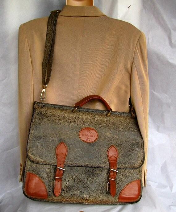 Vintage Brics Cross Body Book Bag Laptop Bag Purse By Shhbang