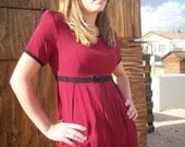 checkered micro mini dress, black and red
