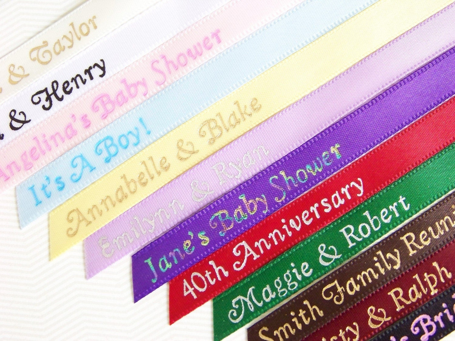 personalized ribbon for party favors 25 baby by ribbonpersonalized