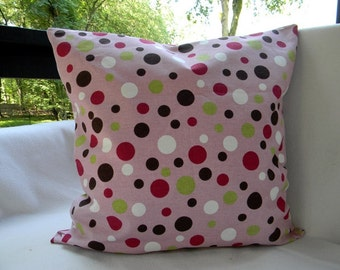 Premier Prints Spirodots Brown/Pink Pillow Cover Cushion Cover Sofa Pillow 20X20