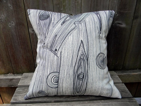 Wood Grain Print Black And White Removable Pillow Cover,Cushion Cover,Sofa Pillow  16X16