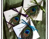 MELODIE Peacock Themed Petit Wedding Programs