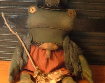 PriMitiVe HalloWeeN TiLLy Witchie Toad DoLL  Instant Download
