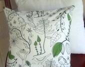 Cecilia's Flora and Fauna...16x16 Pillow Cover