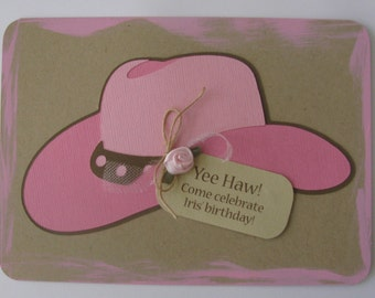 Cowgirl Birthday Invitation - Set of 8