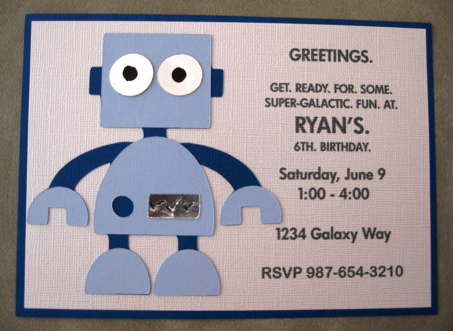 Robot Birthday Party Invitations – Robot Party Invitations