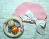 Little Lady Organic Cotton Baby Hat - 3 to 6 months