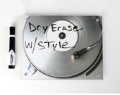 Dry Erase Board Art . Record Player Silver Ice White Board  DJ Art