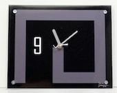 Limited Edition Modern Urban Wall Clock :  Black Avant Garde Photography / Coffee Table Art