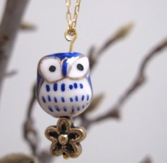 Owl on a chain