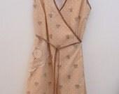 womens orange blossom wrap dress - custom listing for kim