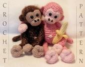 Cuddly Monkey PDF Crochet Pattern