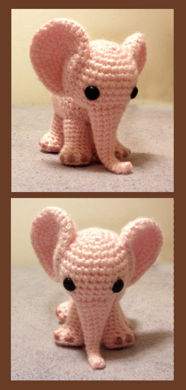 Ella The Elephant Free Crochet Pattern : Ella the Elephant PDF Crochet Pattern