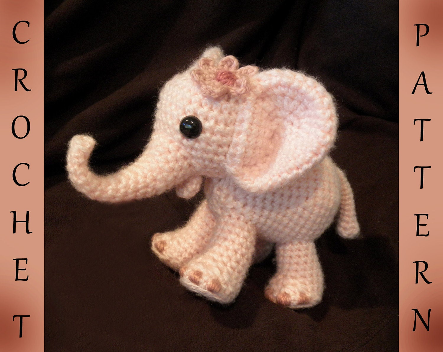 Ella The Elephant Free Crochet Pattern : Ella the Elephant PDF Crochet Pattern