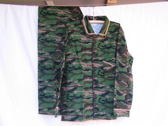 Army Camaflouge Print Winter pyjamas 10 yr old Boy